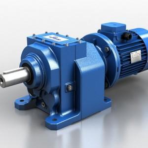 Motoreduktory walcowe H-z-silniikem